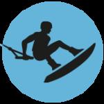 Süsel Seeparx - Menue Icon Wakeboard Park - Wakeboarder im Sprung