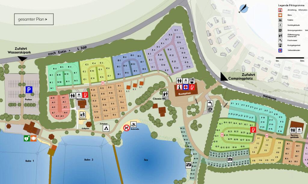 Süsel Seeparx - Camping Platz Lageplan