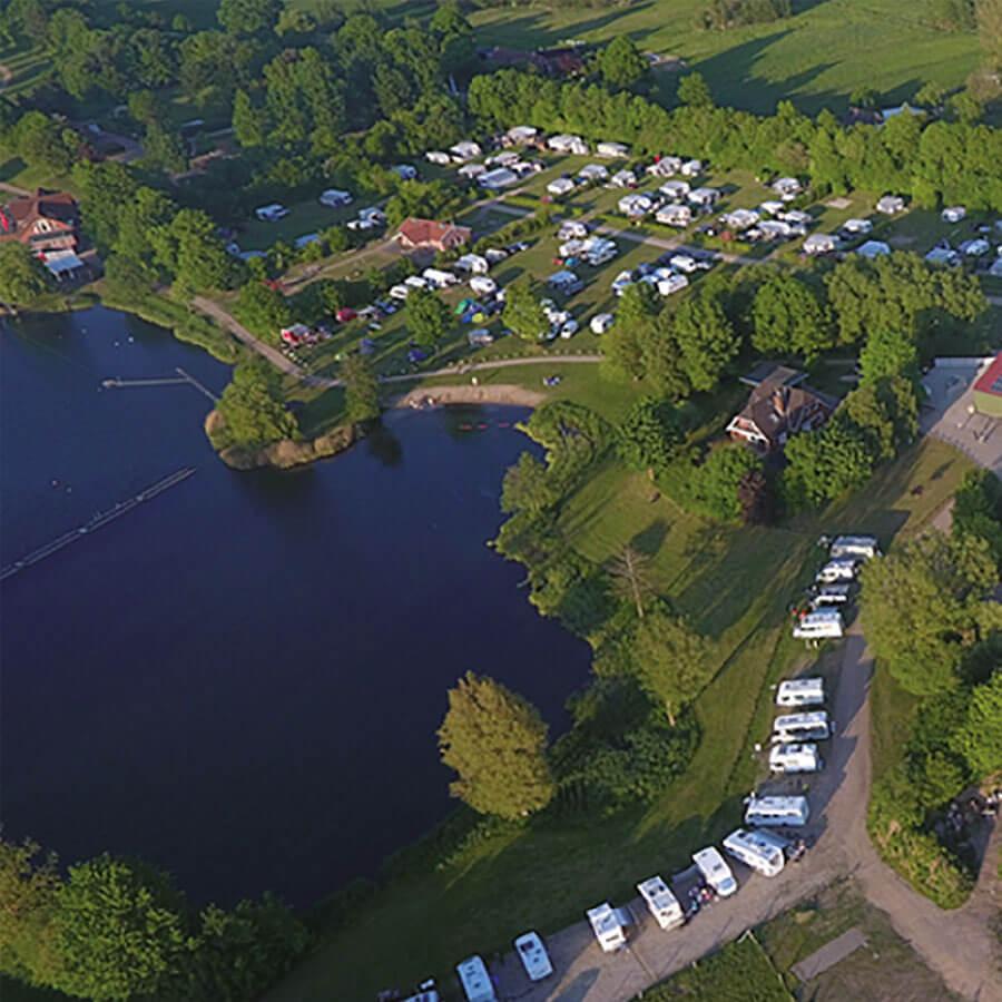 Süsel Seeparx Camping Platz aus der Luft