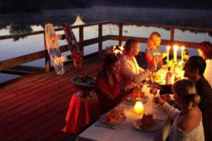 Süsel Seeparx - Firmenfeier auf der Seeterrasse bei Kerzenschein
